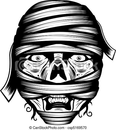 Free vector graphic mummy monster clip art head image - WikiClipArt