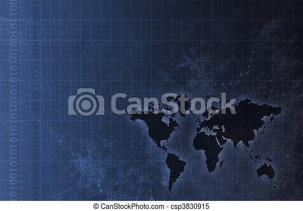 Crecimiento corporativo mundial abstracto - csp3830915