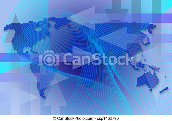 Un mapa comercial mundial - csp1462796