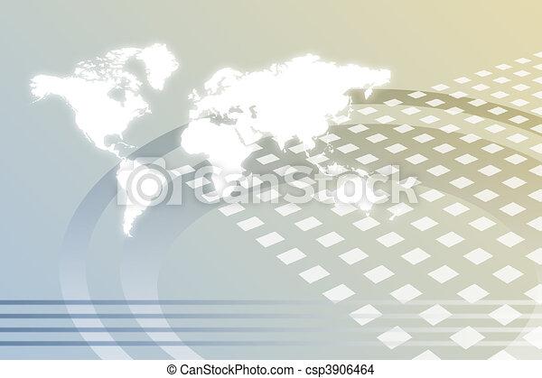 Crecimiento corporativo mundial abstracto - csp3906464