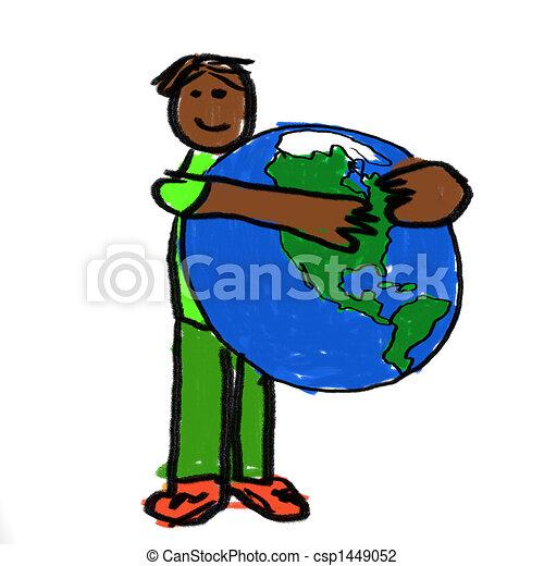 Un abrazo mundial - csp1449052