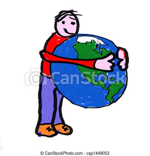 Un abrazo mundial - csp1449053