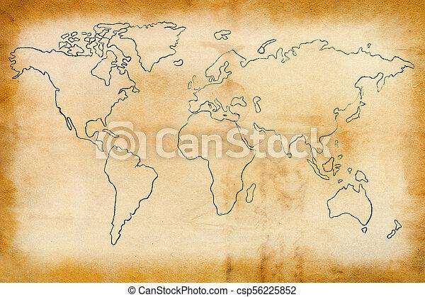 mundo, antigas, mapa - csp56225852
