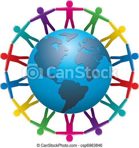 mundo, ao redor, pessoas - csp6963846