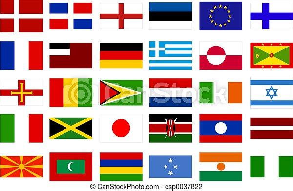 mundo, bandeiras - csp0037822