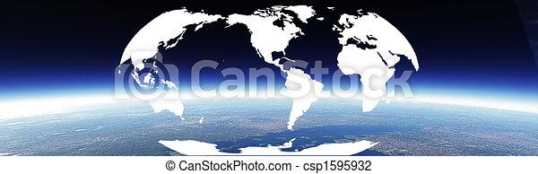 mundo, bandera, horizonte - csp1595932