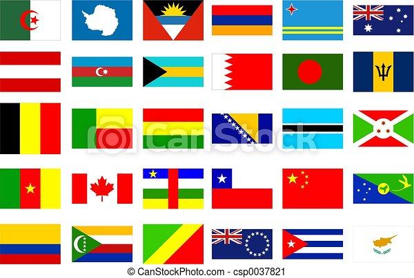 mundo, banderas - csp0037821