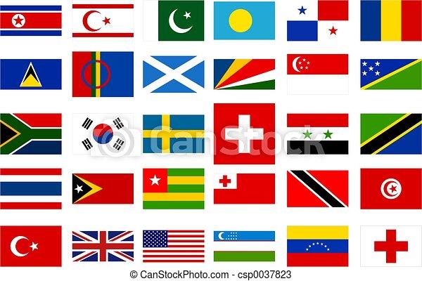 mundo, banderas - csp0037823
