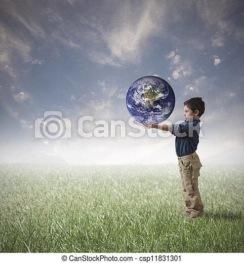 mundo, conceito, salvar - csp11831301
