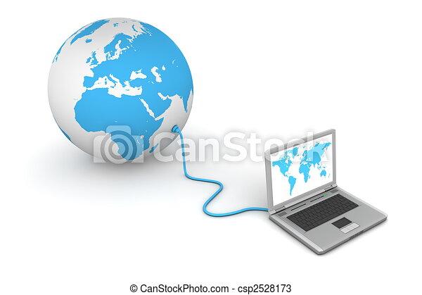 mundo, conectado - csp2528173