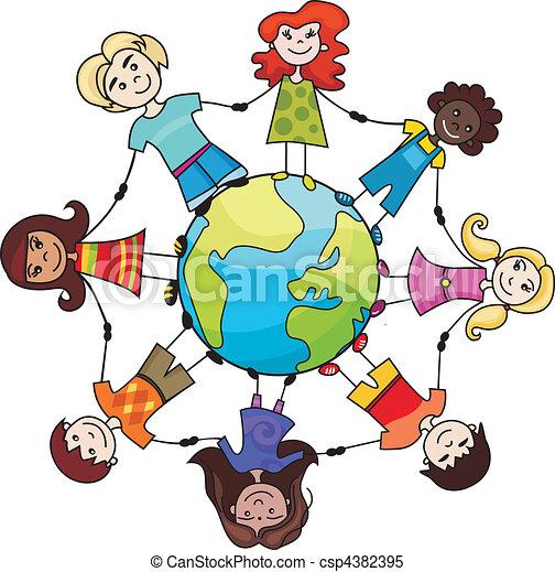 mundo, crianças - csp4382395
