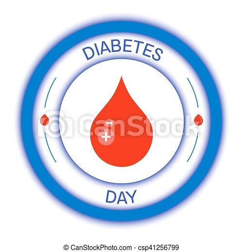 símbolo del día mundial de la diabetes círculo azul