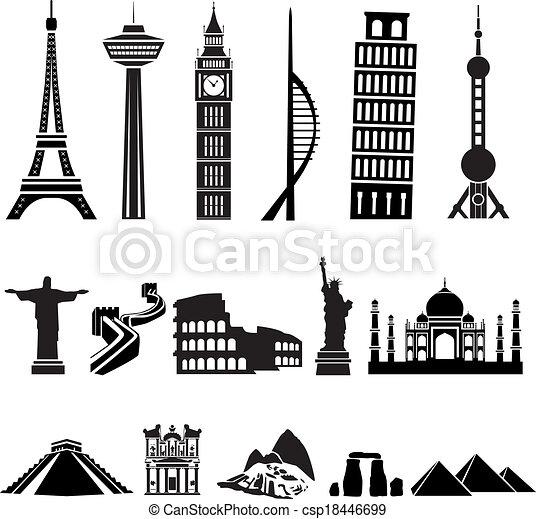 Edificios mundiales - csp18446699
