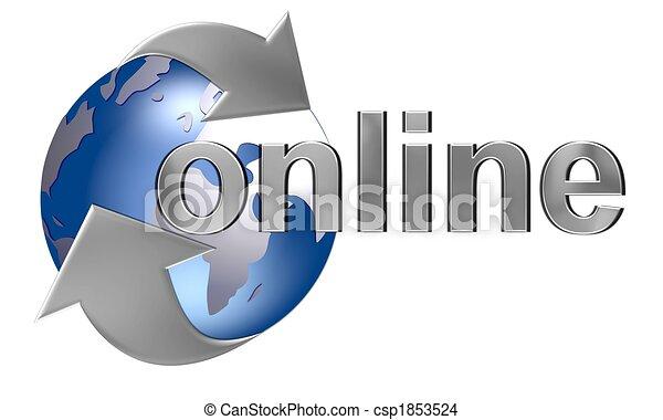 mundo, en línea - csp1853524