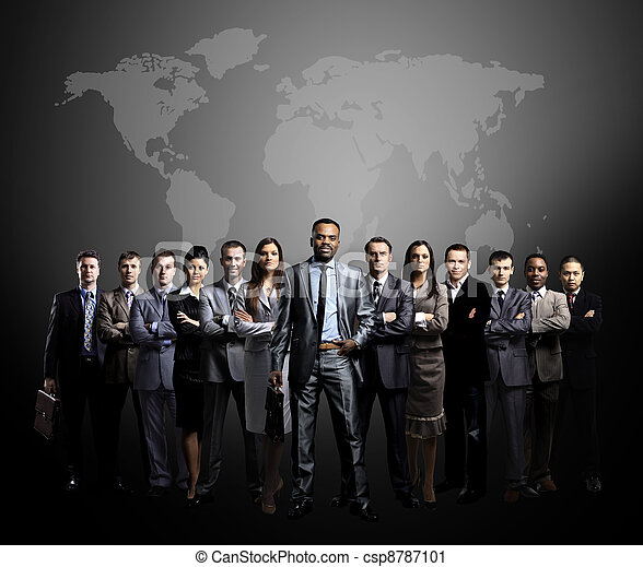 mundo, equipe, ma, pessoas negócio - csp8787101