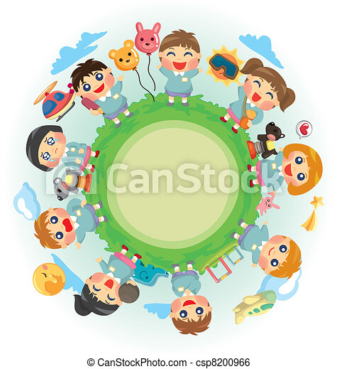 El mundo de los niños felices - csp8200966