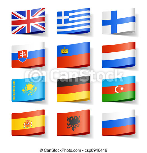 mundo, flags., europe. - csp8946446