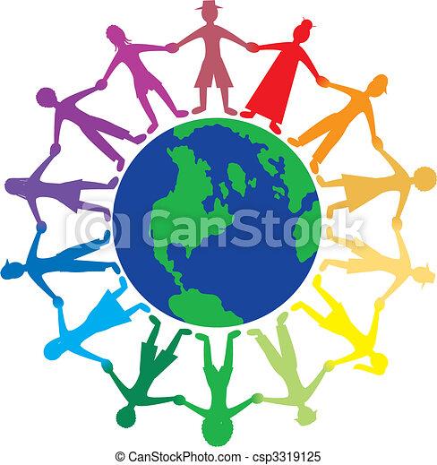El mundo de la gente - csp3319125