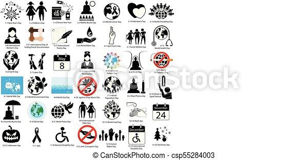 Importante día del signo mundial - csp55284003