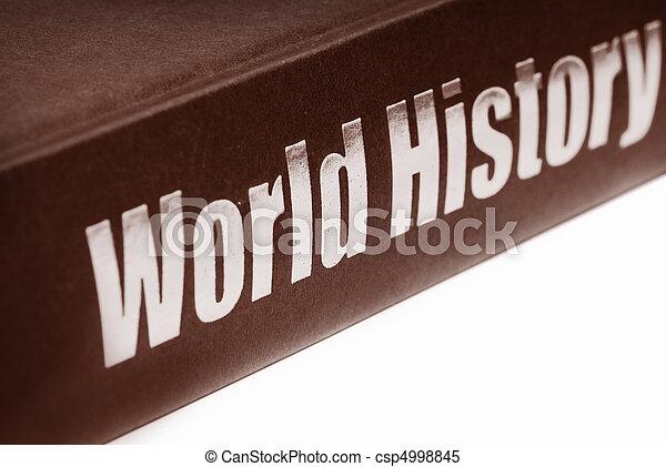 mundo, libro, historia - csp4998845