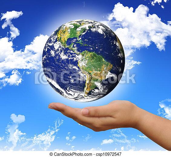 mundo, mão - csp10972547