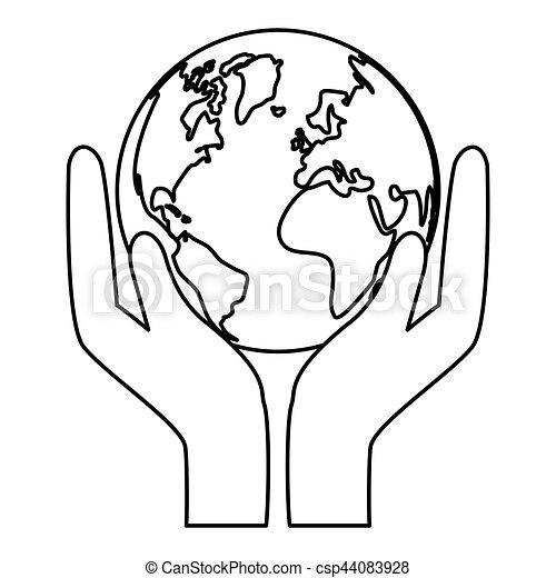 mundo, naturaleza, contorno, conservancy, icono - csp44083928