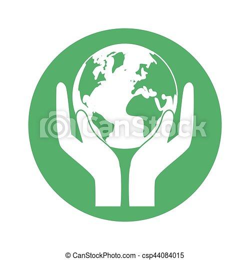 mundo, naturaleza, figura, conservancy, icono - csp44084015