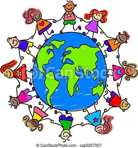 mundo, niños - csp0257007