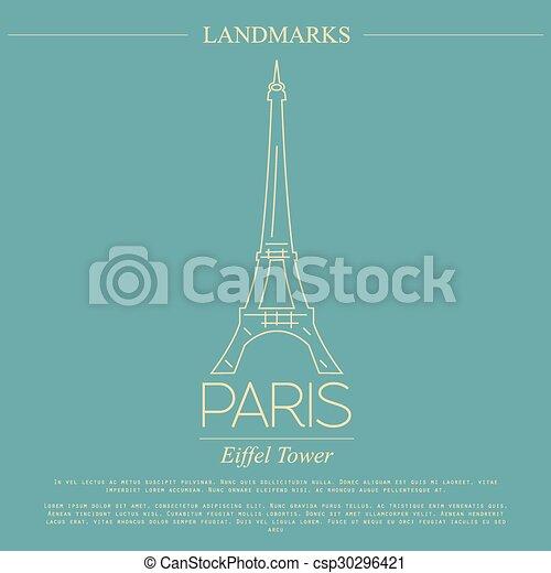 Puntos de referencia. París. Francia - csp30296421