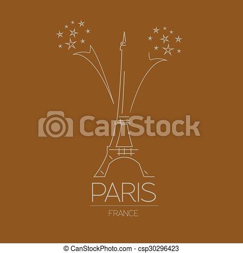 Puntos de referencia. París. Francia - csp30296423