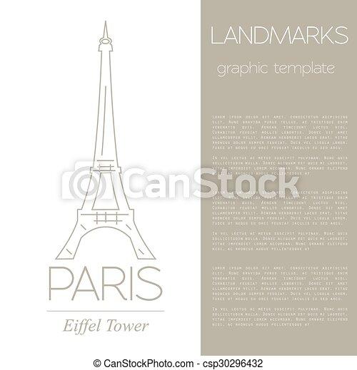 Puntos de referencia. París. Francia - csp30296432