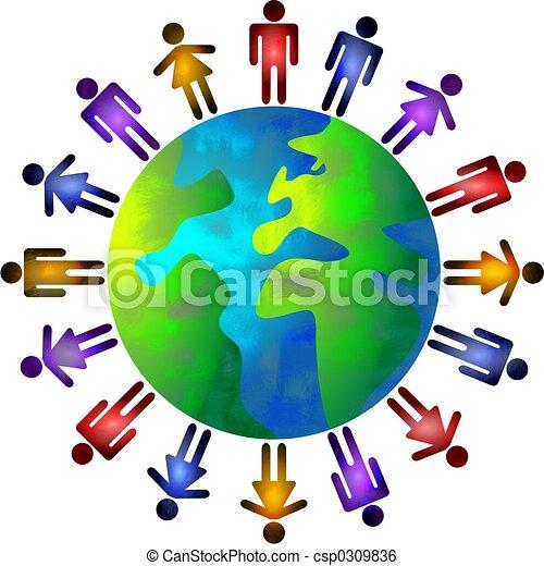 mundo, pessoas - csp0309836
