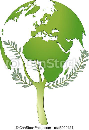mundo, protección, naturaleza - csp3929424