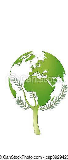 mundo, protección, naturaleza - csp3929423