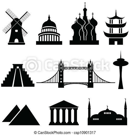 Marcas mundiales y monumentos - csp10901317