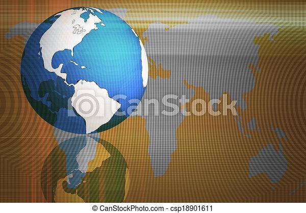 Abstraer el mundo y la tecnología de fondo - csp18901611