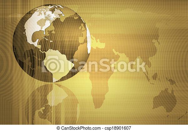 Abstraer el mundo y la tecnología de fondo - csp18901607