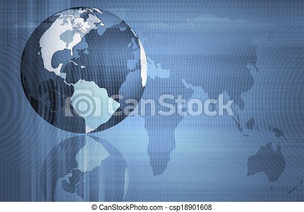 Abstraer el mundo y la tecnología de fondo - csp18901608