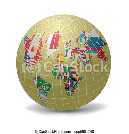 Todas las banderas del mundo - csp5901740