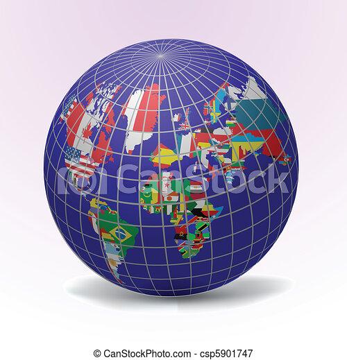 Todas las banderas del mundo - csp5901747