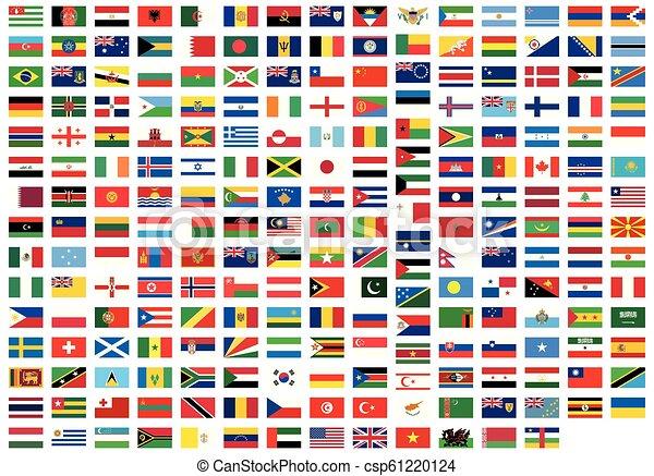 Todas las banderas nacionales del mundo - csp61220124