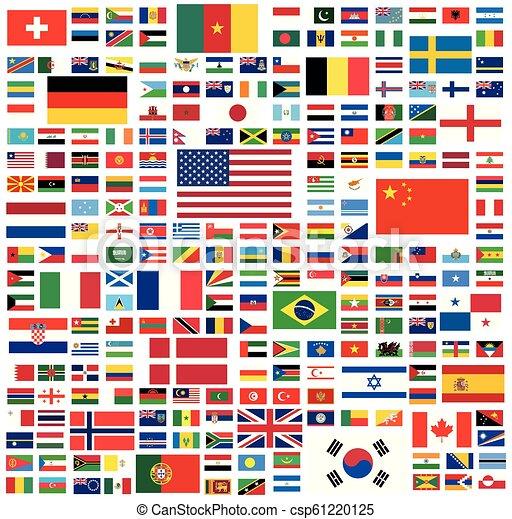 Todas las banderas nacionales del mundo - csp61220125