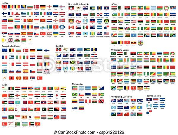Todas las banderas nacionales del mundo - csp61220126