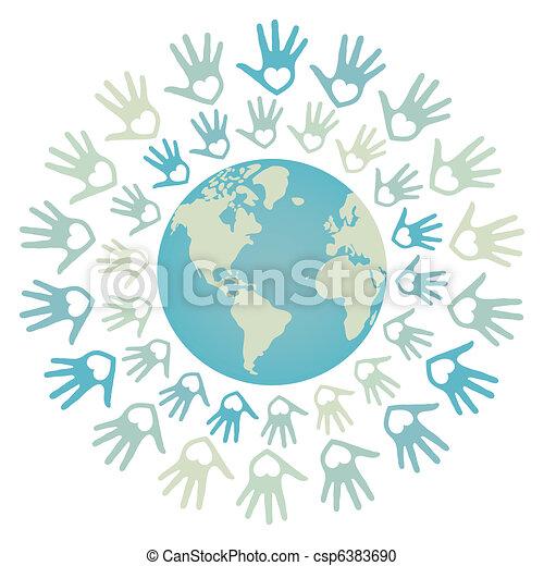 mundo, unidade, paz, design. - csp6383690