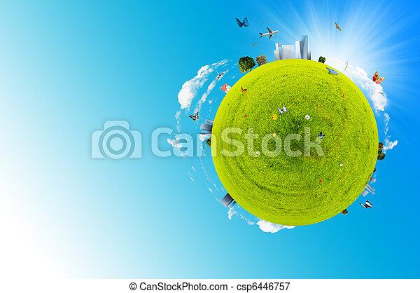 mundo, verde - csp6446757