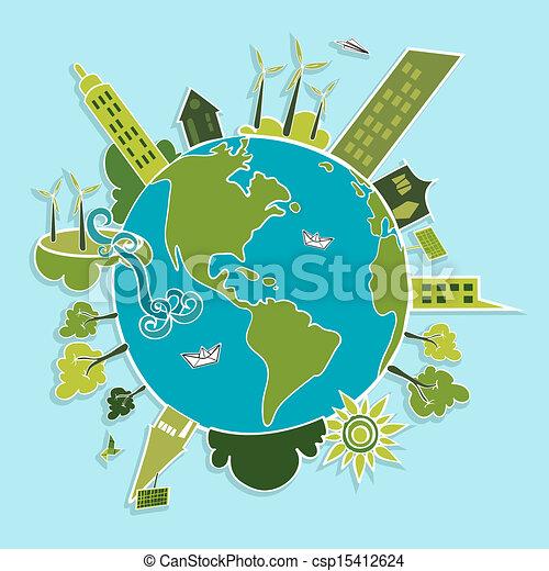 mundo, verde, renovável, resources. - csp15412624