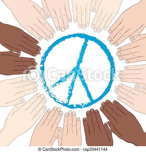 mundo, vetorial, paz - csp33441144