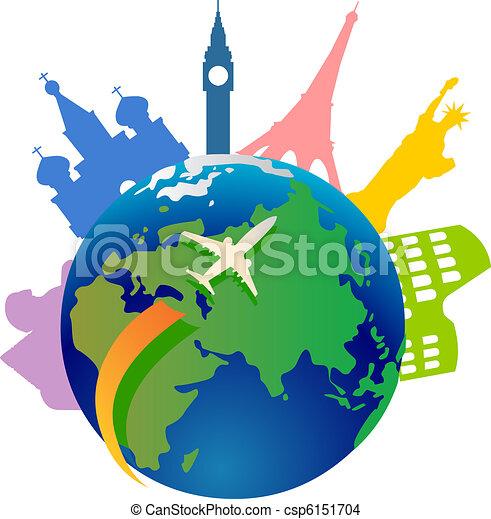 mundo, viajando, ao redor - csp6151704