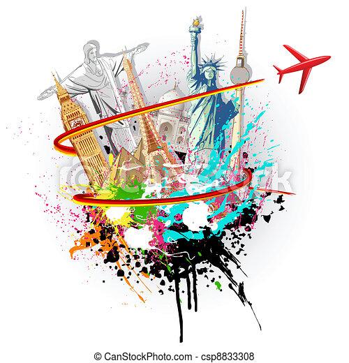 mundo, viaje - csp8833308