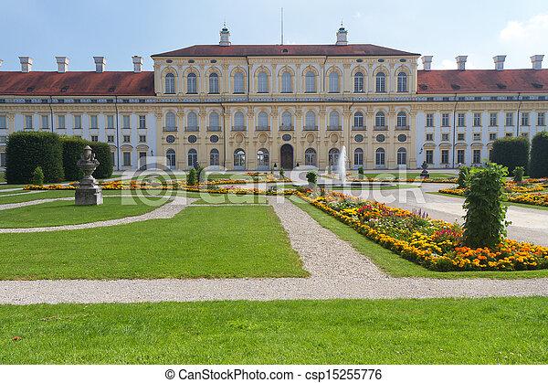 """munich, side), (west, """"schleissheim"""", alemania, castillo - csp15255776"""